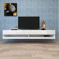 80 inch High Gloss TV Stands & Entertainment Units with LED Lights Wall Mounted