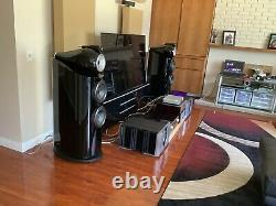 Bowers and Wilkins 802 D3 speakers in high gloss piano black $22000 Retail
