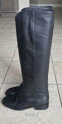 Chanel Knee High Leather Riding Boots (Color Black, Size 37)