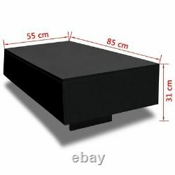 Coffee Table MDF High Gloss Black 33.5 Accent Tea Side Living Room Furniture
