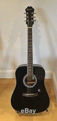 Epiphone Dr 100 High Gloss Black Acoustic Guitar 2018 With Ritter Gigbag