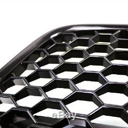 Fit for 07-12 R8 Gen1 Kühlergrill Main Upper Grille Gloss Black Euro Hex Style