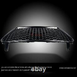 Fit for 13-15 R8 Gen1 Kühlergrill Main Upper Grille High-gloss Black Euro Style