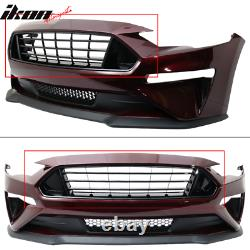 Fits 18-20 Ford Mustang Front Upper Grid Grille Gloss Black ABS