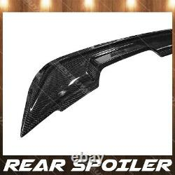 For 15-20 Ford Mustang Real Carbon Fiber GT500 Style Rear Pedestal Spoiler Wing