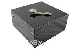 For Large Watch Face A Luxury Carbon Style High Gloss Storage Case Jewellary Box