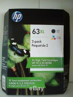 HP 63XL High Yield Ink Cartridge, Black & Tri-Color, Combo Pack Exp 2021