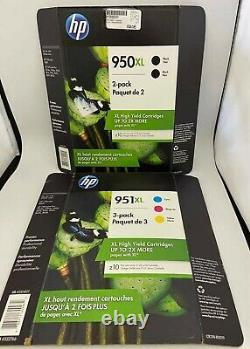 HP GENUINE 950XL High yield Black twin Pack and 951XL 3PK Color Ink Cartridges