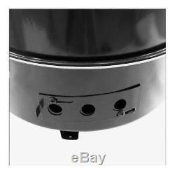 High Gloss Black Compact 19 In BBQ Charcoal Vertical Smoker With Heat Thermometer