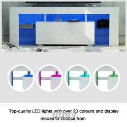 High Gloss TV Stand Unit Cabinet Console LED Table for 70 Screen Shelve Drawer