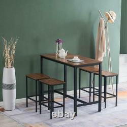 High Grade 5 Piece Dining Table Set Kitchen Bar Pub Home Room Chairs Furniture