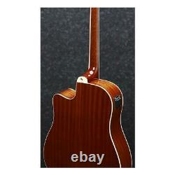 Ibanez PF15ECE Dreadnought Cutaway Acoustic-Electric Guitar, Natural High Gloss