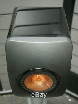 KEF LS50 Standmount Speakers in High Gloss Piano Black Preowned