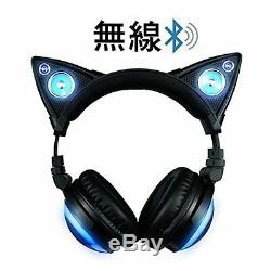 LED High Function Wireless Cat Ear Headphones Color Changing AXENT WEAR F/S NEW