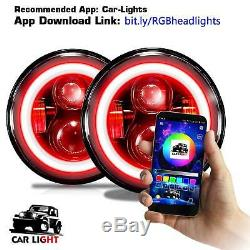 LED RGB Halo Projector Angel 7 Headlight DRL for Freightliner Century 2