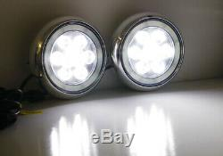 LED Rally Driving Light Halo Ring Daytime Running Lamps For MINI Cooper (Chrome)
