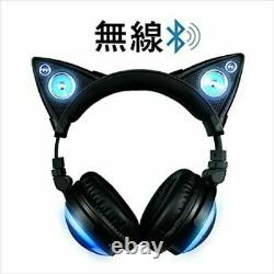 Led High Function Wireless Cat Ear Headphones Color Changing Axent Wear