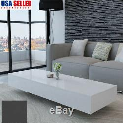 Modern High Gloss White/Black Coffee Table Side End Table Living Room Furniture