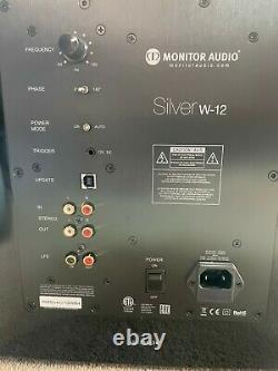 Monitor Audio Silver W-12 Subwoofer in High Gloss Black