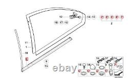 New Genuine Bmw 3 Series E46 Coupe Rear Door Railing Gasket High Gloss Right O/s