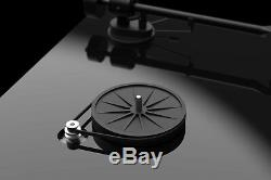 Pro-Ject T1 High-Gloss Black Turntable with Ortofon OM 5E Moving Magnet cartri