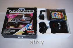 Sega Genesis HIGH DEFINITION GRAPHICS Console with Sonic Hedgehog Complete in Box