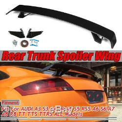 Type R Style Rear Trunk Spoiler Gloss Black For AUDI A3 S3 A4 S4 A5 S5 RS5 TTS