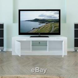 49 '' Unité Support Tv Cabinet Avec Led Shelve With2 Cabinet High Gloss Rc Console