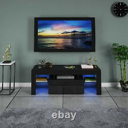 51 Bois High Gloss Tv Stand Entertainment Furniture Center Console Cabinet