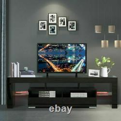 63 High Gloss Tv Stand Cabinet Console Unit Furniture Table 2 Tiroir Led Shelve