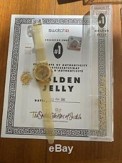 6 Très Collection 1990 -1996 Swatch Horlogerie Withcertificates D'or Jelly # 1