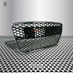 Ajustement Pour 07-12 R8 42 Gt Mk1 Car Grill Grille Insert Front Gloss Black Euro Style