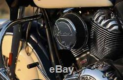 Black Thunder Stroke Indian Motorcycle High Flow Air Cleaner 2014-2020 Chieftain