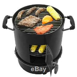 Bullet Charbon Portable Compact Smoker Cuisinière Grill Pit Bbq Tailgate Camping