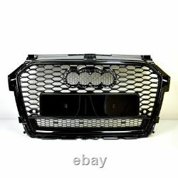 Front Grill Look Rs1 Noir Pour Audi A1 8x 2015-19 Bumpers Grill Honeycomb