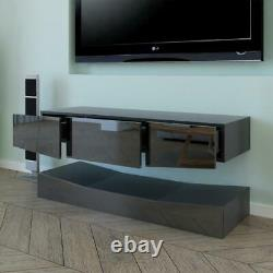 High Gloss Tv Stand Unit Cabinet Console Led Shelve Floating Wall Mout Tv Stand