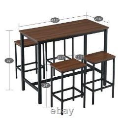 High Grade 5 Piece Dining Table Set Kitchen Bar Pub Home Room Chaises Meubles