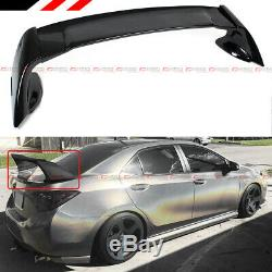 Pour 2014-2019 Toyota Corolla M Style Noir Brillant Jdm Stand Up Trunk Spoiler Wing
