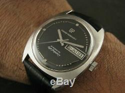 Vintage Perregaux Haute Fréquence Girard Gyromatic Date Collection Nice Hommes